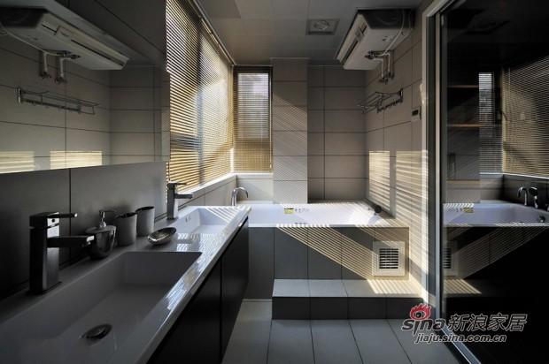 简约 二居 卫生间图片来自佰辰生活装饰在80平黑白灰经典时尚小户型23的分享