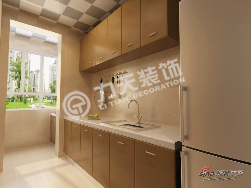 简约 二居 厨房图片来自阳光力天装饰在和平时光-两室一厅-现代简约61的分享