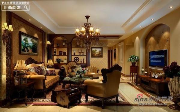 中式 三居 客厅图片来自用户1907659705在8万打造120平现代中式古典家40的分享