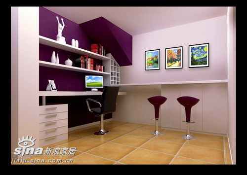 简约 三居 书房图片来自用户2557010253在金色晓岛538的分享