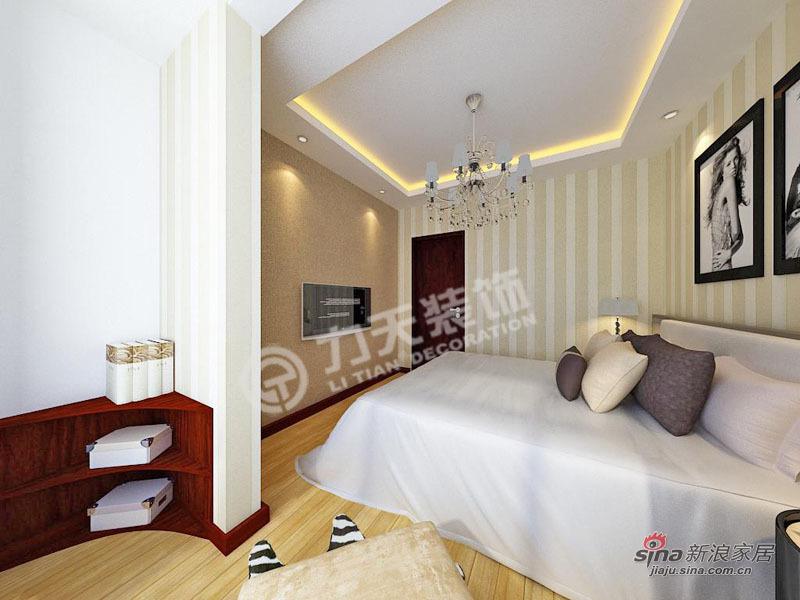 简约 二居 卧室图片来自阳光力天装饰在上榀坐-2室2厅1卫1厨-现代简约46的分享
