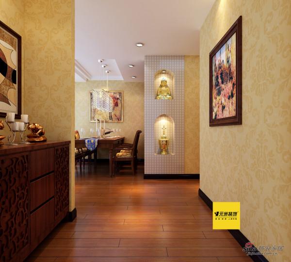 110平米观景园简欧风格二居餐厅效果图
