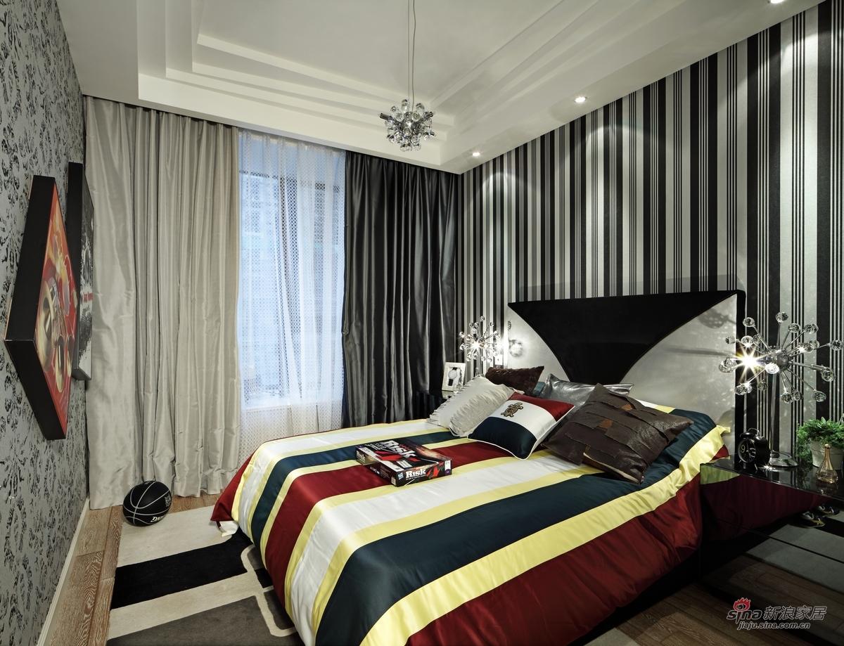 简约 三居 卧室图片来自用户2739153147在【高清】115平米三居室设计最有范儿68的分享