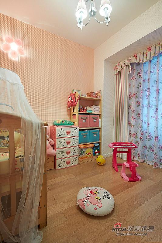 中式 三居 儿童房图片来自佰辰生活装饰在9万打造150平新古典中式家60的分享