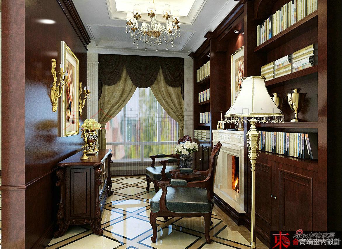 欧式 别墅 书房图片来自用户2745758987在【高清】200平典雅欧式风情42的分享