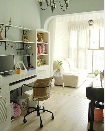 田园 二居 书房图片来自用户2737791853在20万装110平田园简约混搭舒适居33的分享