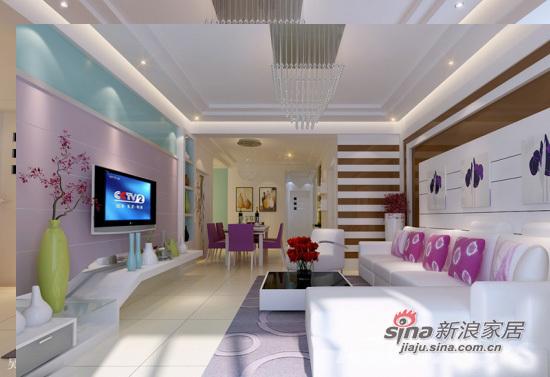 现代 四居 客厅图片来自用户2772840321在13万装118平粉嫩暖居27的分享