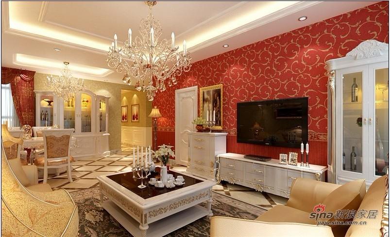 欧式 三居 客厅图片来自用户2746869241在10万打造120平米简欧家居77的分享