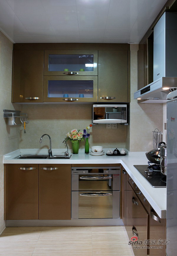 简约 三居 厨房图片来自用户2737786973在8万网购91平三室一厅现代美家!14的分享