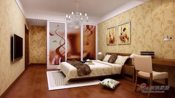 中国铁建·花语城卧室效果图