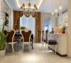 翠林漫步126平三居欧式装修开放式厨房餐