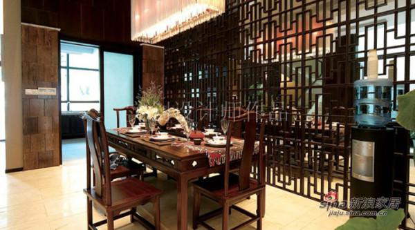 汀湘十里别墅中式风格装修设计-餐厅