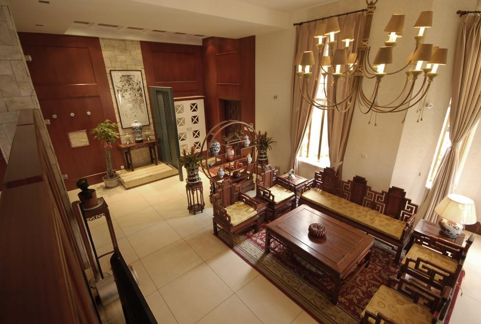 中式 别墅 客厅图片来自用户1907659705在尽显 中式情节27的分享