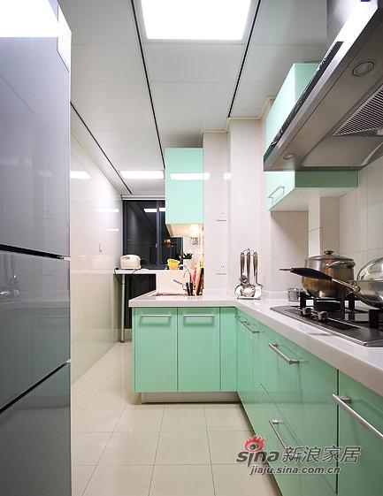 现代 三居 厨房图片来自装修微日记在【高清】8万打造105平现代雅致之家76的分享