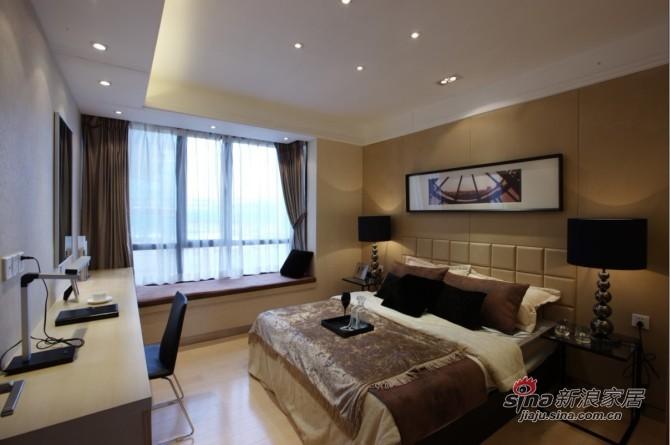简约 三居 卧室图片来自用户2737786973在12万大包150平低调品质3居49的分享