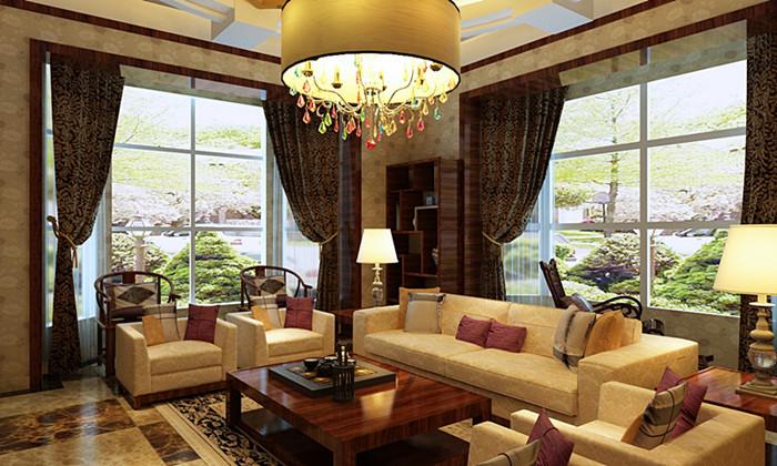 中式 别墅 客厅图片来自用户1907662981在我的专辑851173的分享