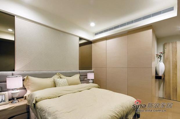 简约 三居 卧室图片来自佰辰生活装饰在7.8万营造100平简约温馨家53的分享