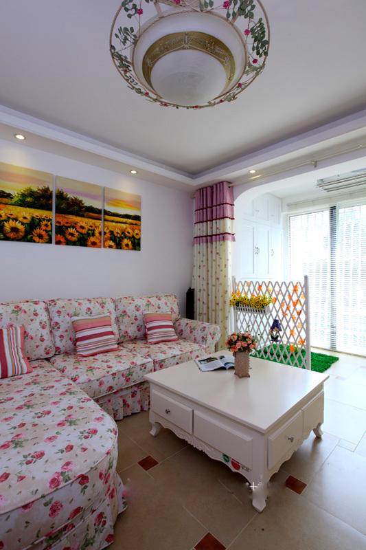 田园 二居 客厅图片来自用户2737946093在5.5万98平简约田园美居46的分享
