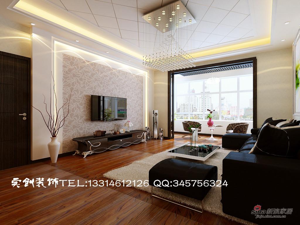简约 三居 客厅图片来自用户2739081033在7.4万 打造天鹅湾 140平三居 现代简约10的分享
