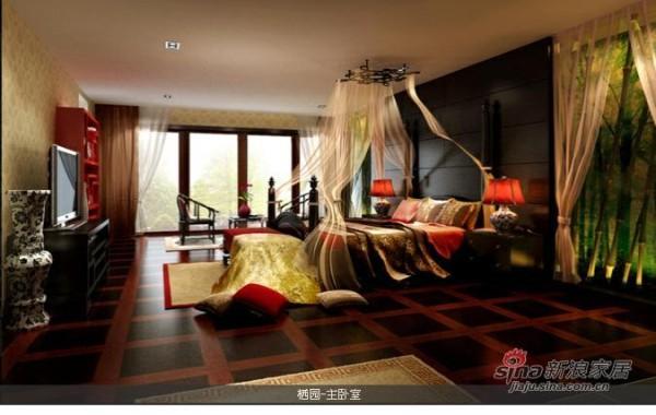 红中式卧室