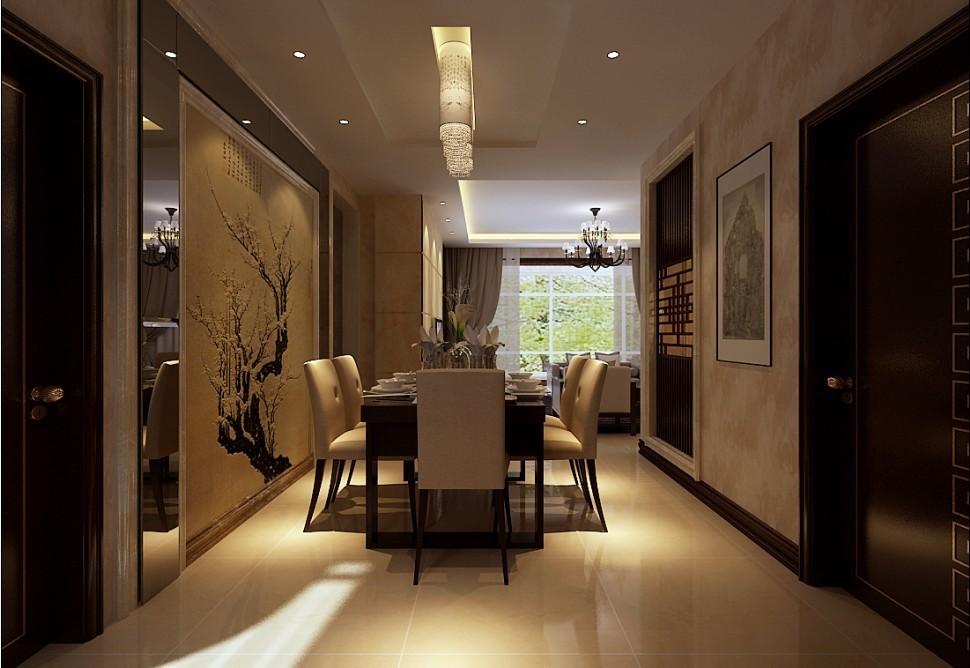 中式 别墅 餐厅图片来自用户1907696363在270平米复式结构现代中式风格打造舒适家居94的分享