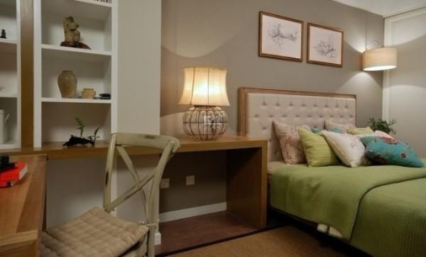 简约 二居 卧室图片来自用户2738813661在6万装扮混搭风格两居室26的分享