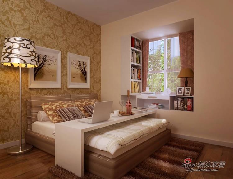 简约 三居 卧室图片来自用户2737782783在180㎡时尚现代新居43的分享