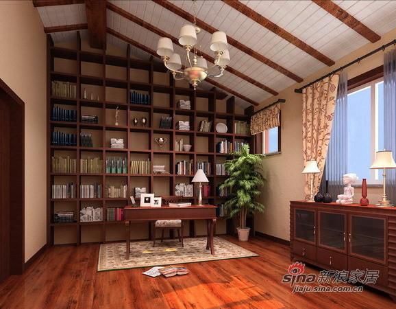 美式乡村书房设计