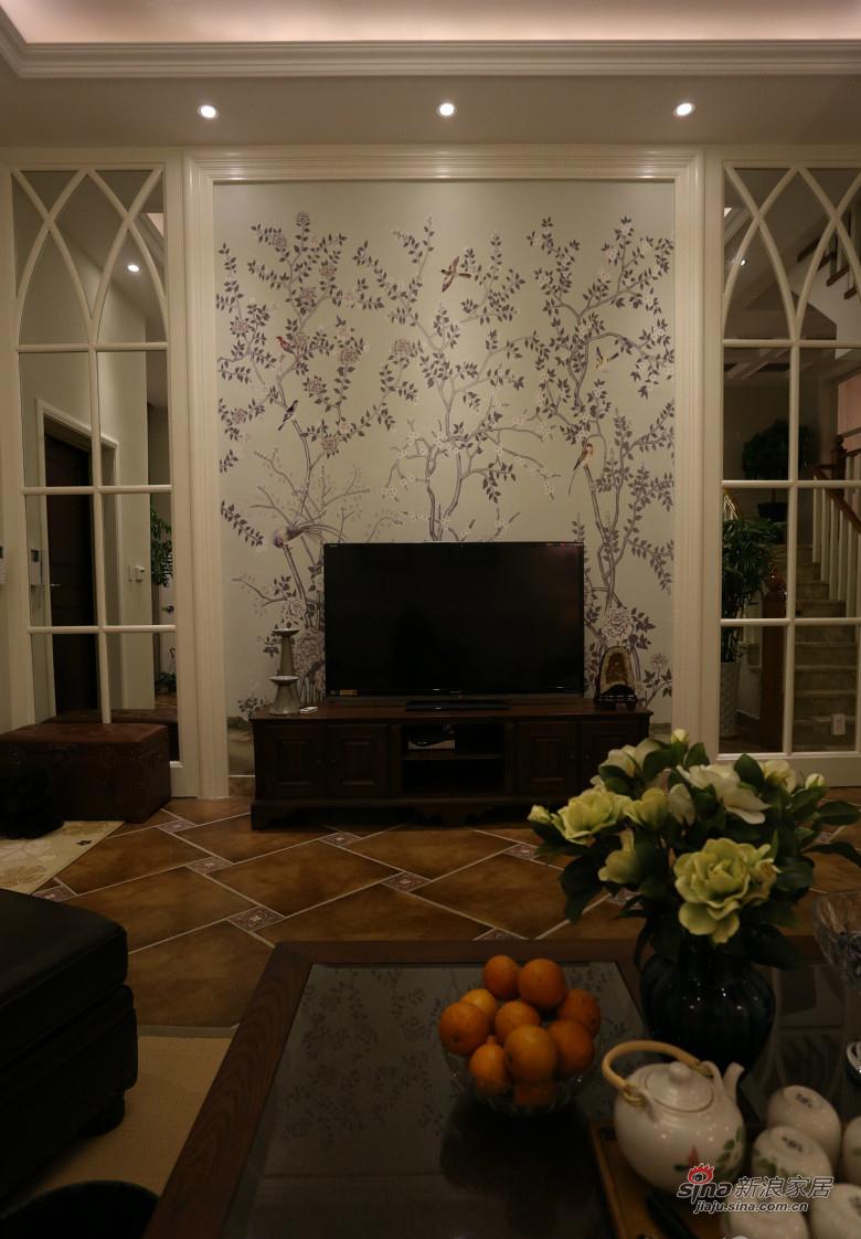 混搭 复式 客厅图片来自装修微日记在【高清】178平大气混搭时尚复式空间64的分享