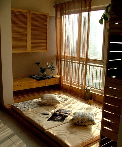 卧室 飘窗 田园图片来自用户2746948411在阳台的分享