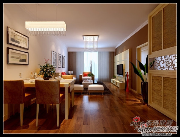 简约 二居 餐厅图片来自用户2737782783在6.6万打造100平米古朴典雅的简约设计30的分享