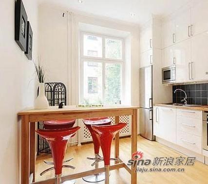 北欧 一居 厨房图片来自用户1903515612在36平单身男人帮简约现代公寓80的分享