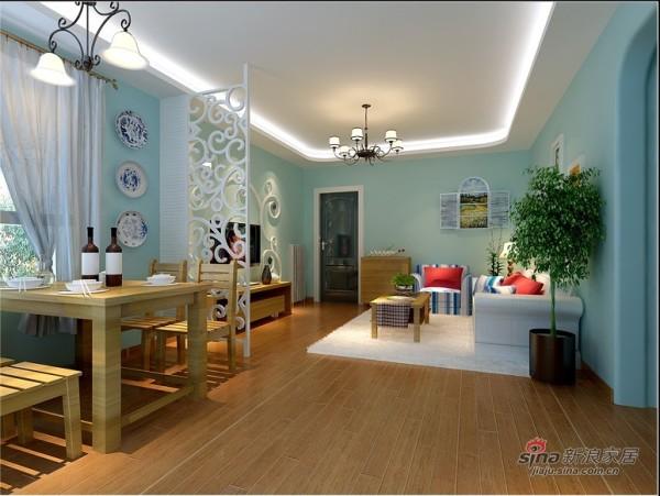 地中海风格餐客厅