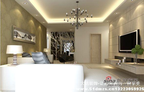 现代简约风格家庭装修设计-客厅装修效果图
