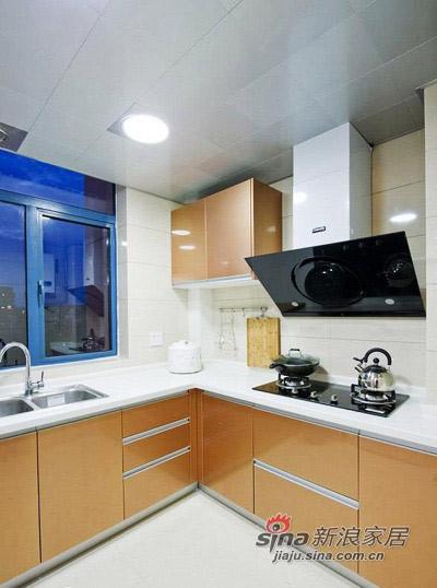 """简约 二居 厨房图片来自用户2737759857在80后16万装2居婚房很""""蓝调""""69的分享"""