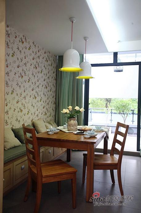 北欧 二居 餐厅图片来自佰辰生活装饰在85平原木清新北欧风格唯美家99的分享