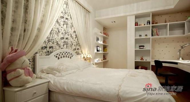 简约 三居 卧室图片来自用户2737735823在8.5万装100平简约奢华3居50的分享