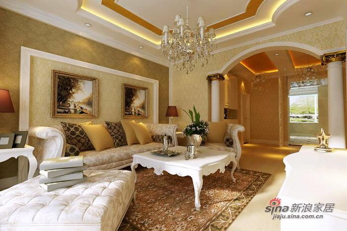 欧式 三居 客厅图片来自用户2746869241在9.7万打造上和园著150平豪华简欧三居室29的分享