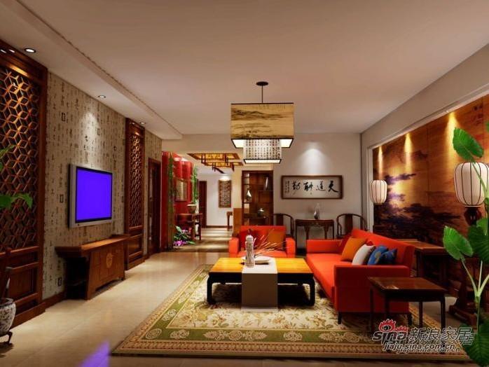 中式 三居 客厅图片来自用户1907659705在140平方全包仅花14万打造中式古典风格16的分享