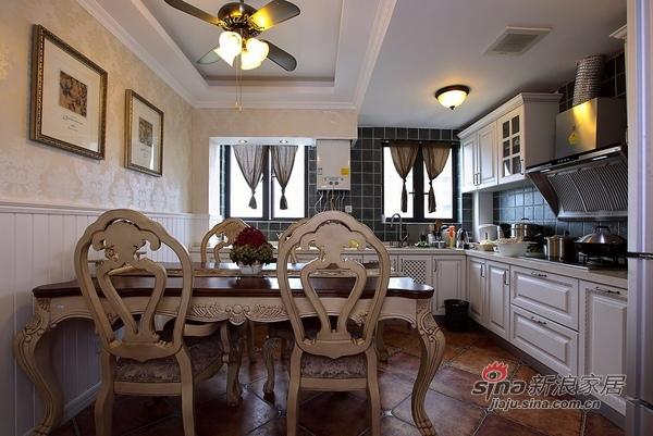 美式 二居 餐厅图片来自用户1907685403在110平时尚公寓爱上美式风36的分享