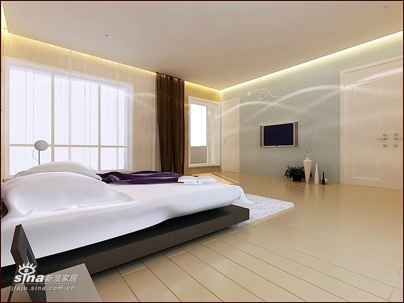 简约 别墅 卧室图片来自用户2737759857在360平达观别墅极简风格36的分享