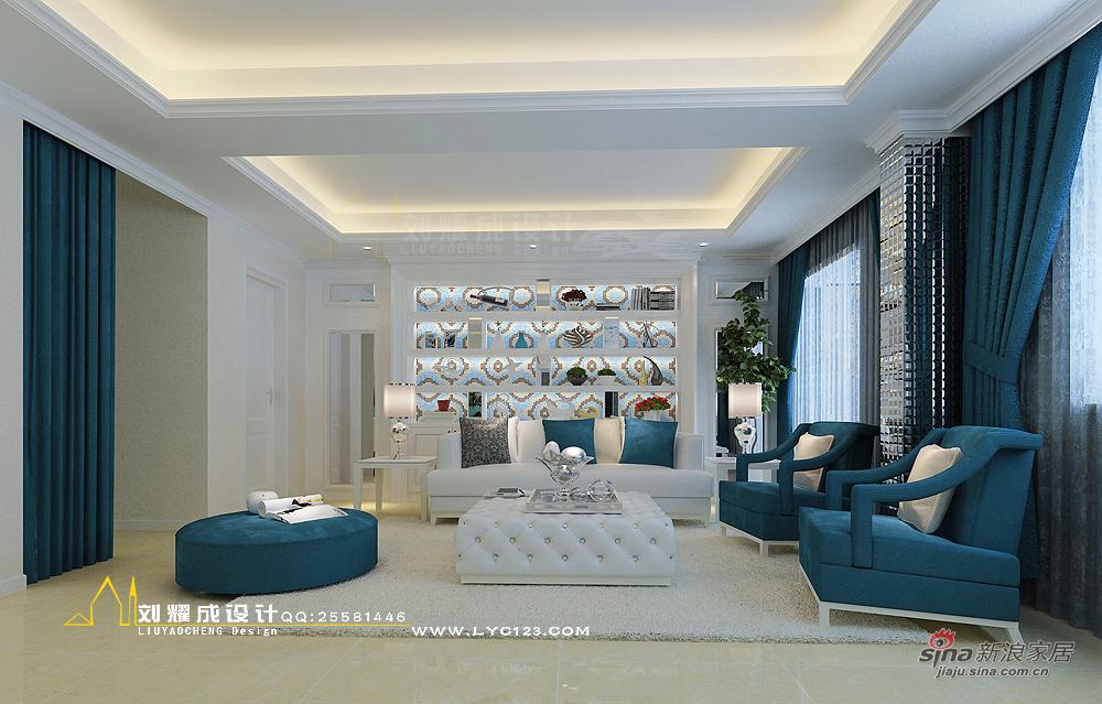 欧式 复式 客厅图片来自用户2557013183在【高清】四口之家梦之蓝250平复式楼设计85的分享