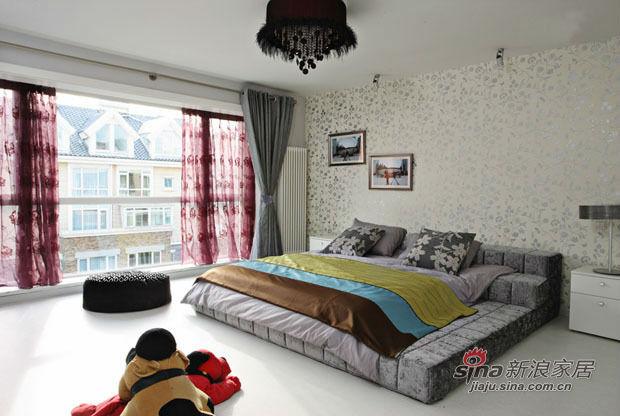 其他 三居 卧室图片来自用户2557963305在20万打造硬朗黑白搭配甜美风三居室25的分享