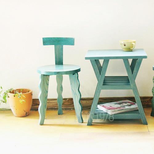 地中海家具 实木 水母咖啡椅