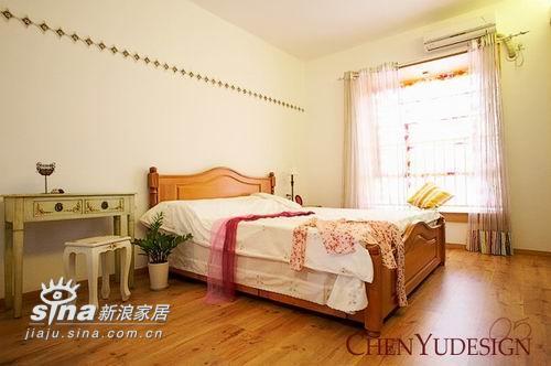 简约 四居 卧室图片来自用户2557010253在满屋尽吹清凉风 清新雅致的田园风格家居48的分享