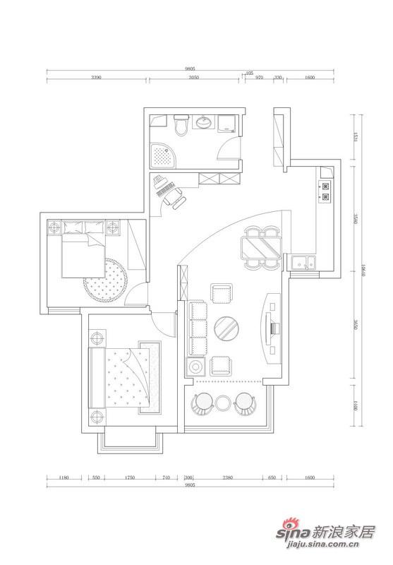 简约 二居 客厅图片来自用户2737950087在75平米蜗居大变身71的分享