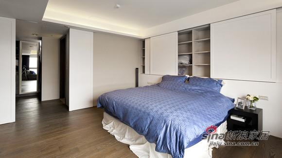 简约 三居 卧室图片来自用户2739153147在15万装低调122平精致三居67的分享