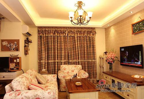 田园 三居 客厅图片来自用户2737946093在90平放大感觉混搭田园风格家81的分享