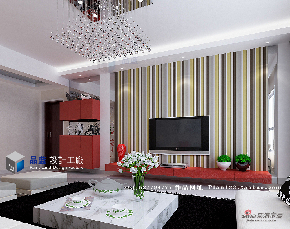 简约 三居 客厅图片来自用户2738813661在【高清】13万打造粉红女郎120平米样板房72的分享
