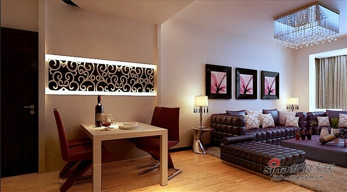 简约 二居 餐厅图片来自用户2737735823在5.4万打造明光翡翠湾100平现代简约两居52的分享